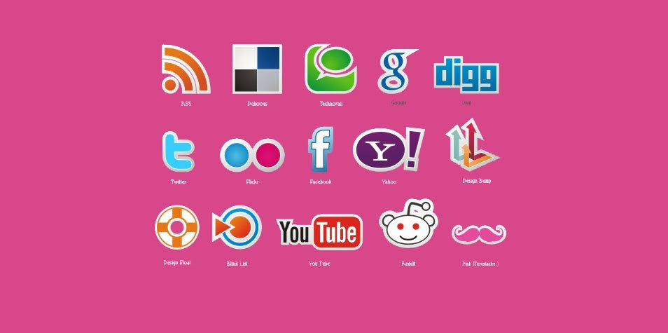 New free social icons vector set