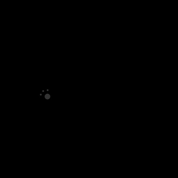 シルエットでかわいいくまの無料イラスト商用フリー オイデ43