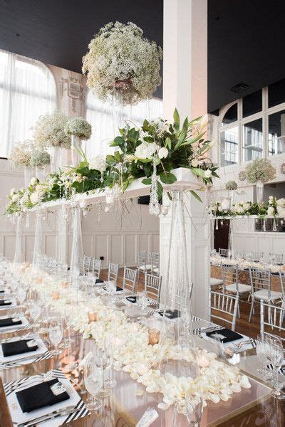 Black Tie St Louis Loft Wedding   Wedding Centerpieces