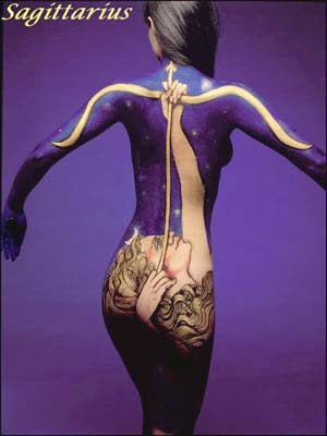 Sagittarius Body Art Optical Illusions Image