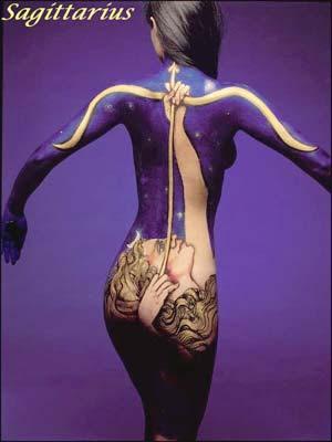 Sagittarius Body Art Optical Illusions Image