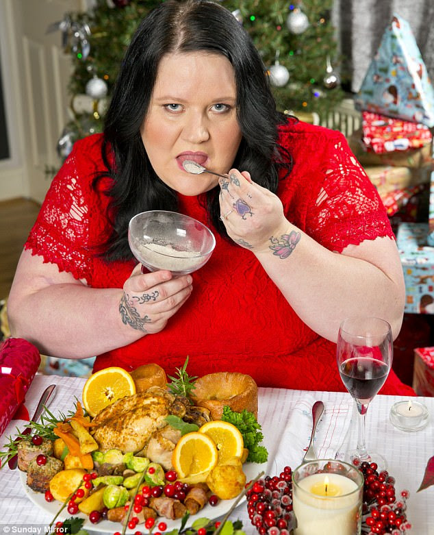Debra Parsons, 41, will sprinkle the remains of mother Doreen Brown, who died suddenly last December, on the turkey and Christmas pudding before enjoying the festive feast
