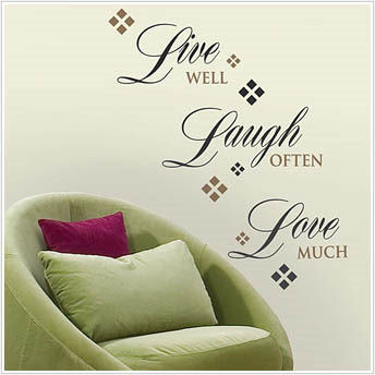 Home Decor Wall Words & Phrases Peel-and-Stick Decals
