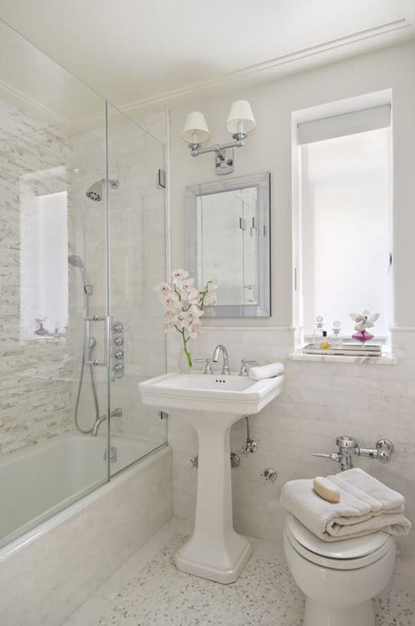 25 Stylish Small Bathroom Styles | HomeMydesign