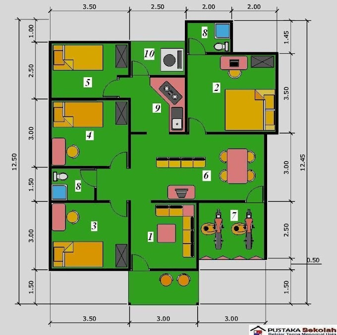 Gambar Desain Rumah Minimalis 4 Kamar Tidur