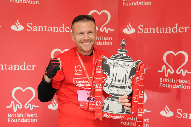 BHF London to Brighton bike ride supported by Santander 2012