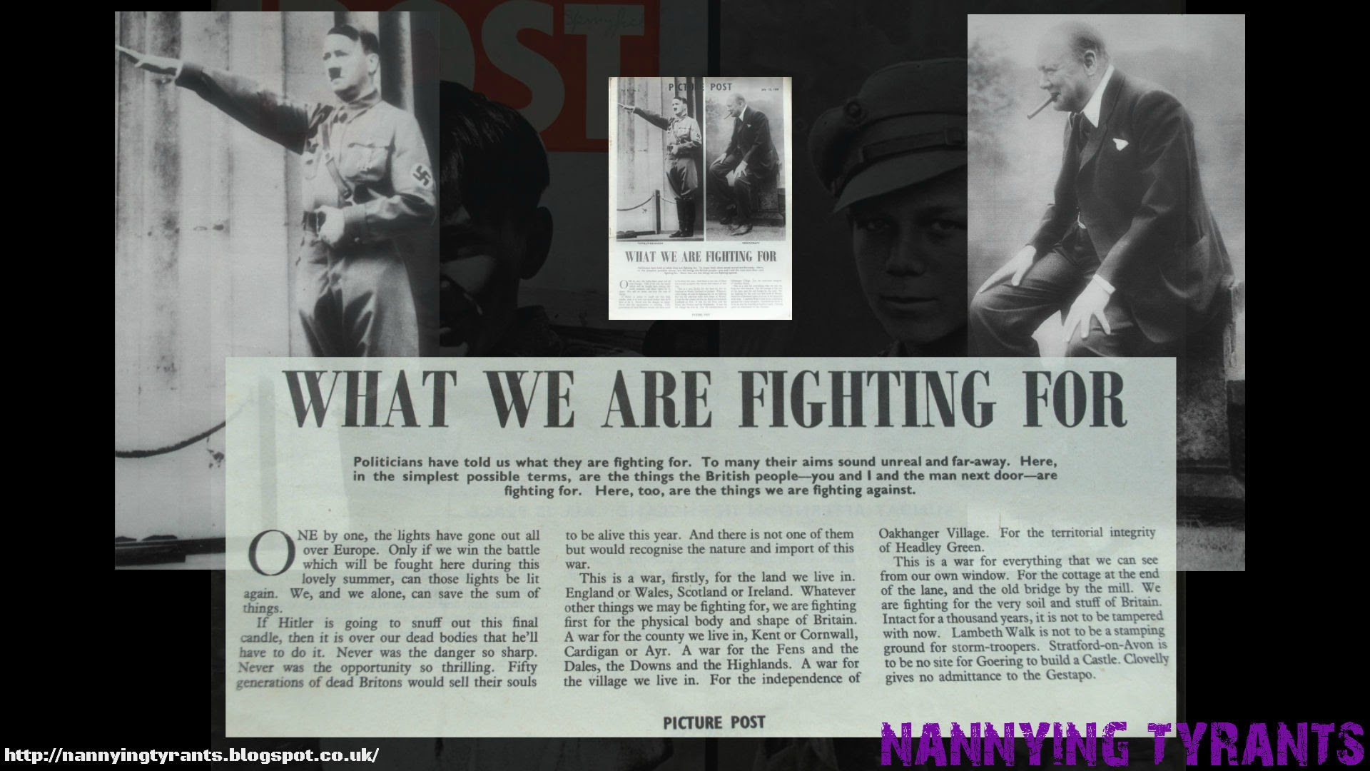 What We Are Fighting For - Adolf Hitler & Winston Churchill