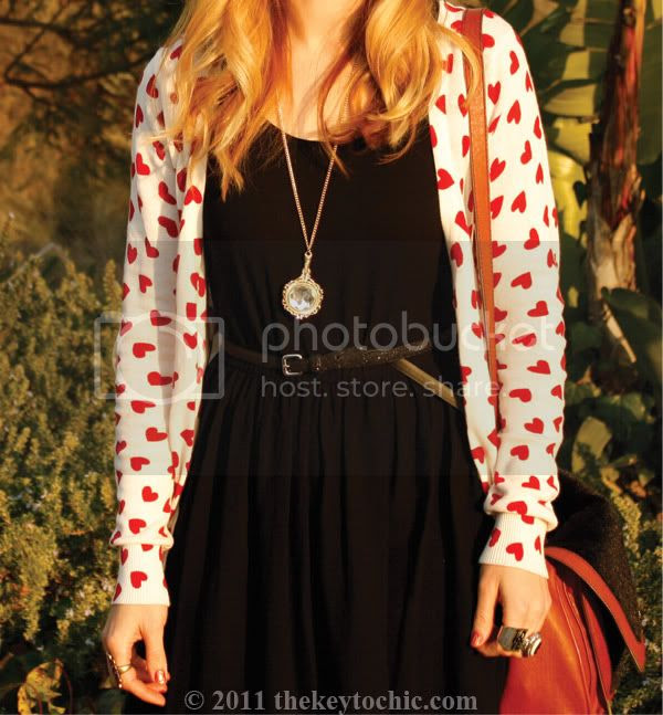 heart print cardigan, high-low dress, bowler hat, southern California fashion blogger, Los Angeles fashion blog
