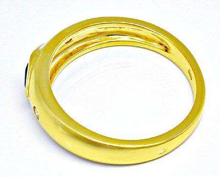 Foto 3, Ring mit Brillianten, Saphir, Rubin, 14K Gelbgold, Shop, S8242