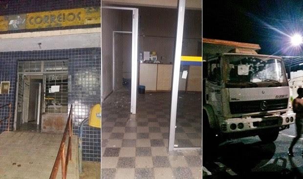 Em Campo Grande, criminosos atiraram em veículos que estavam estacionados perto dos Correios (Foto: Francisco Coelho/Focoelho.com)