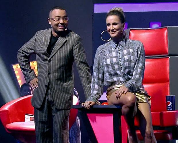 Dudu Nobre e Claudia Leitte (Foto: TV Globo)