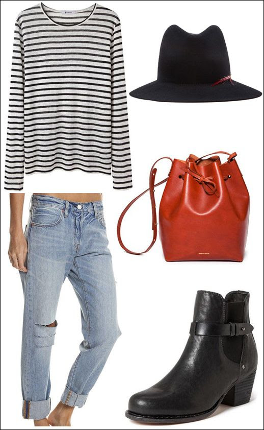 Le Fashion Blog -- 5 Fall Style Wardrobe Staples -- T by Alexander Wang Struped Tee, Janessa Leone Hat, Mansur Gavriel Bucket bag, Vintage Levi's and Rag & Bone boots -- Ebay Guide Collections photo Le-Fashion-Blog-5-Fall-Style-Wardrobe-Staples-Ebay-Guide-Collections.jpg