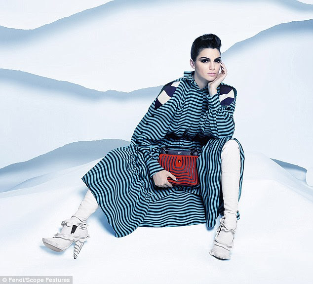 Transformation: Although Kendall is sporting a much-shorter 'do in the ads, it doesn't look like she really cut her hair for the highly-coveted gig