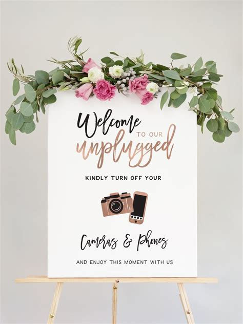 Wedding Unplugged Ceremony Sign   The Penny   Member Board
