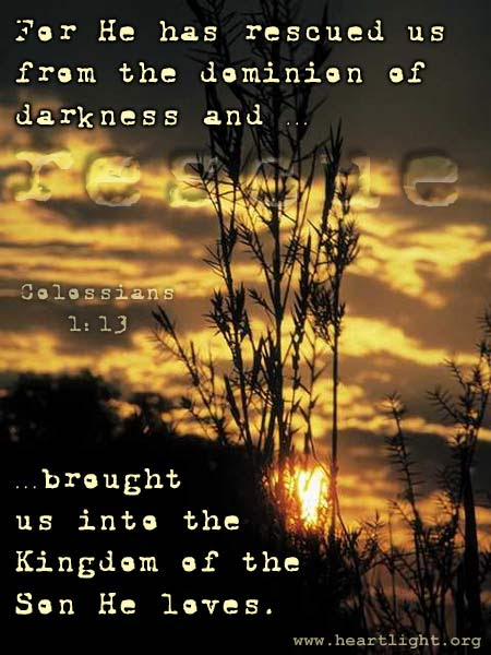 Inspirational illustration of Colossians 1:13