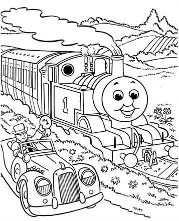mewarna08 kleurplaat de trein verjaardag 5