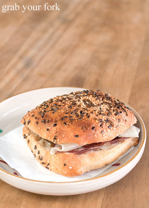 sopressa and asiago sandwich at brickfields chippendale