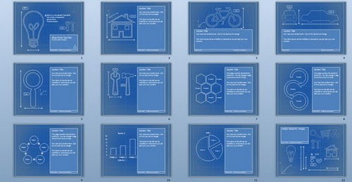 50 Cool Free Powerpoint Templates Blueprint Background Summer Background