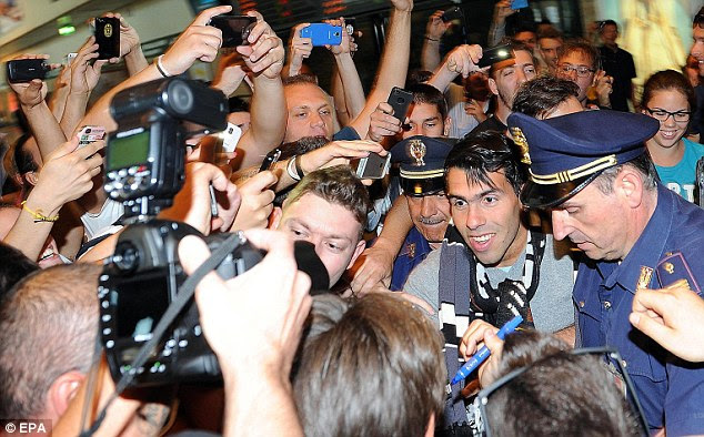 Bargain: The Argentine has signed for Juventus for a fee believed to be around £10million
