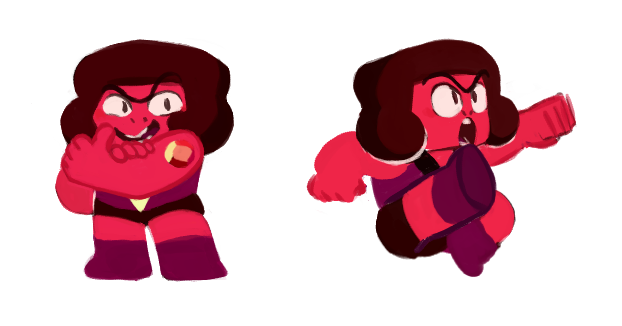 I drew the entire team of Rubies from Steven Universe, I love them, my datefriend loves them, and we're both upset with how the show treated them. I tried to give all of them a slight individual touch...