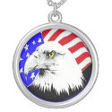 Bald Eagle and American Flag Necklace necklace