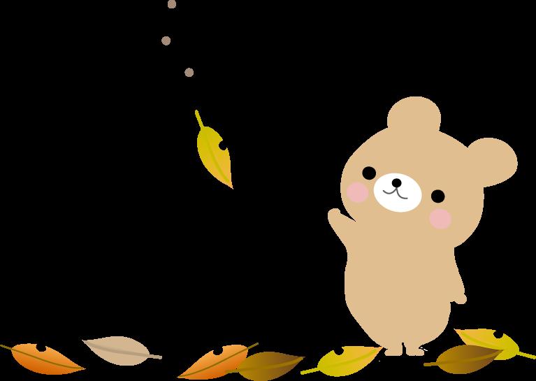 秋のイラスト落ち葉 無料イラストフリー素材