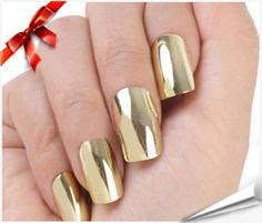 Brightdeal 24 Pcs Super Star Nail Art Polish Gold and Silver Metallic Foil Sticker Patch Wraps Tips for Women Girls Wife As Valentine's Day ...