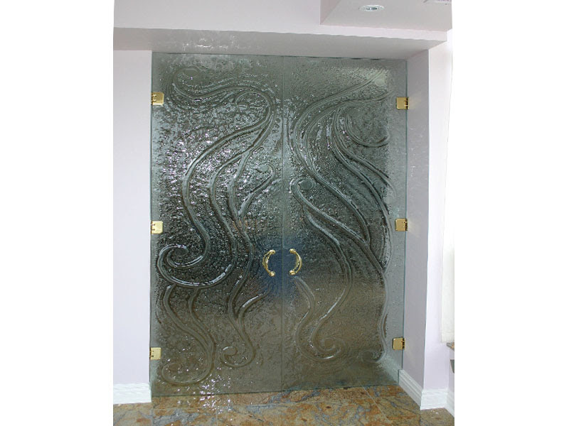 glass etching designs for doors  | Cool Glass Etching Designs