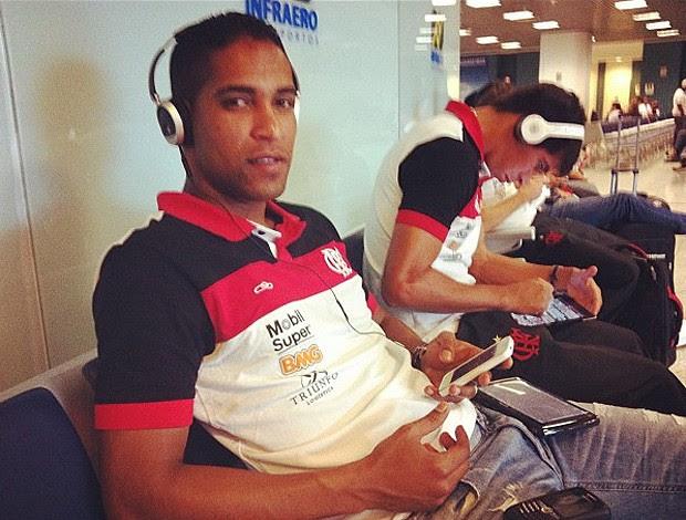 Cleber Santana Flamengo (Foto: Twitter / Alexandre Vidal)