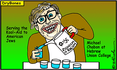 Dry Bones cartoon, Hamas. Palestinian, Kool-Aid, American Jews, Michael Chabon,Arab, Israel, Gaza, Palestine,Terror, Terrorism,