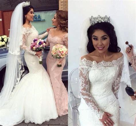 Custom Made 2016 Mermaid Wedding Dresses Sheer Illusion