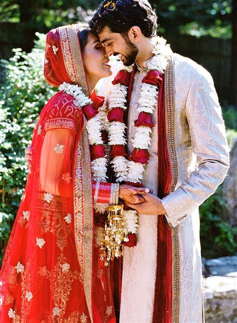 Bold Outdoor Indian Wedding   Once Wed