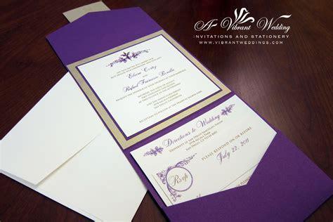 Purple and Champagne Wedding Invitation ? Vintage Floral