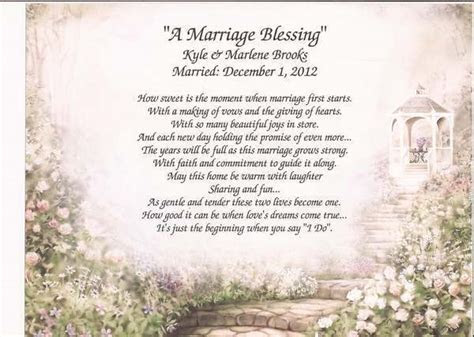 marriage blessing personalized poem  wedding