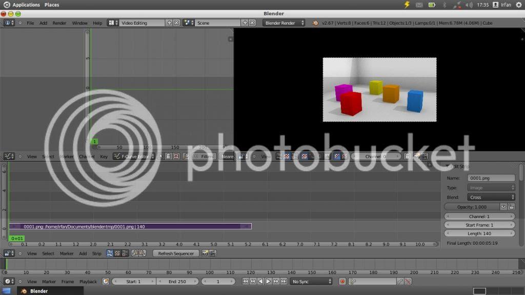 video editing di blender untuk finishing animasi