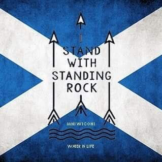 Scottish support for Standing Rock.