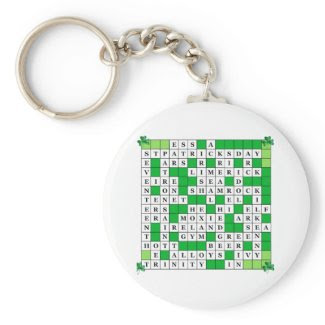 Keychain with St Patrick's Day original Crossword