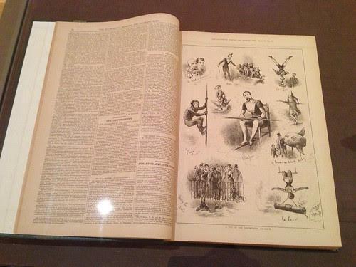 Book detail from *Degas's Miss La La at the Cirque Fernando* exhibit, Morgan Library