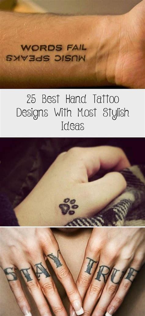 meaningful hand tattoo designs men women