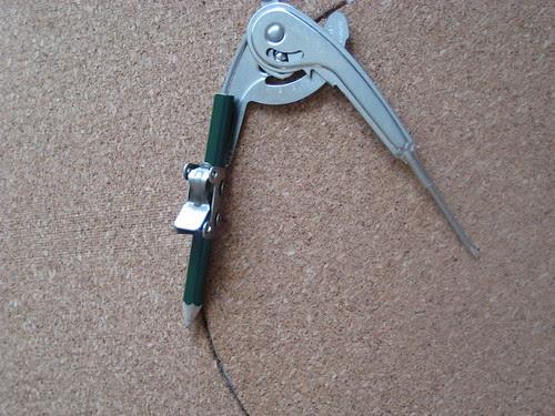 Step 1: Trace shape onto cork