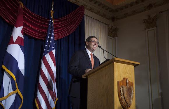 El Ministro de Relaciones Exteriores Bruno Rodríguez en la apertura de la Embajada de la Isla en Washington. Foto: Ismael Francisco/ Cubadebate