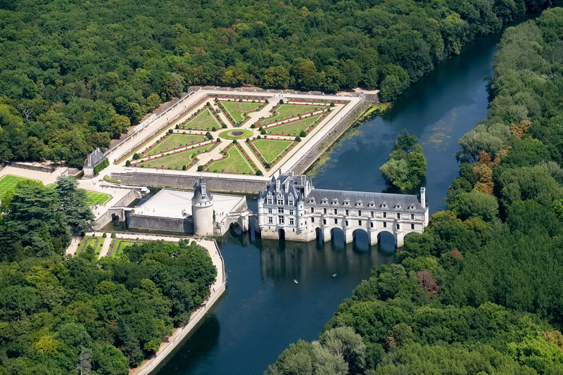 Château de Chenonceau from 500 feet looking East