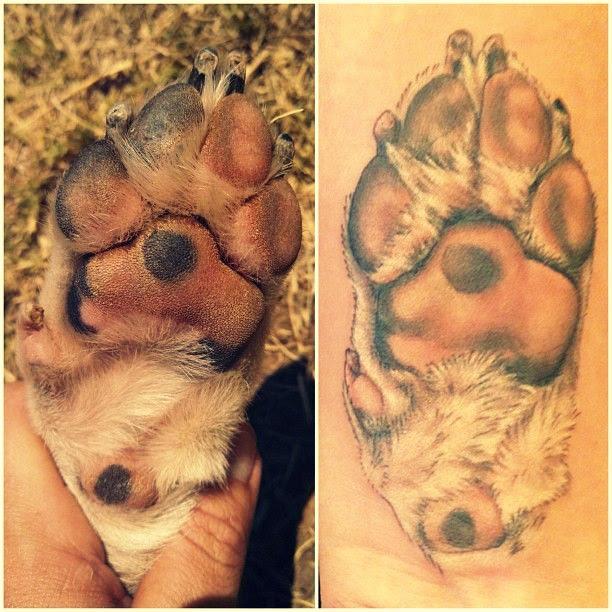 Tatuaje Huella Perro Zonatattoos