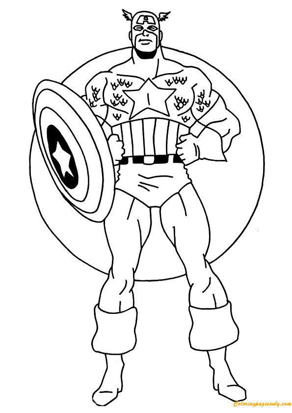 Steve Rogers Captain America Coloring Page Free Coloring Pages Online
