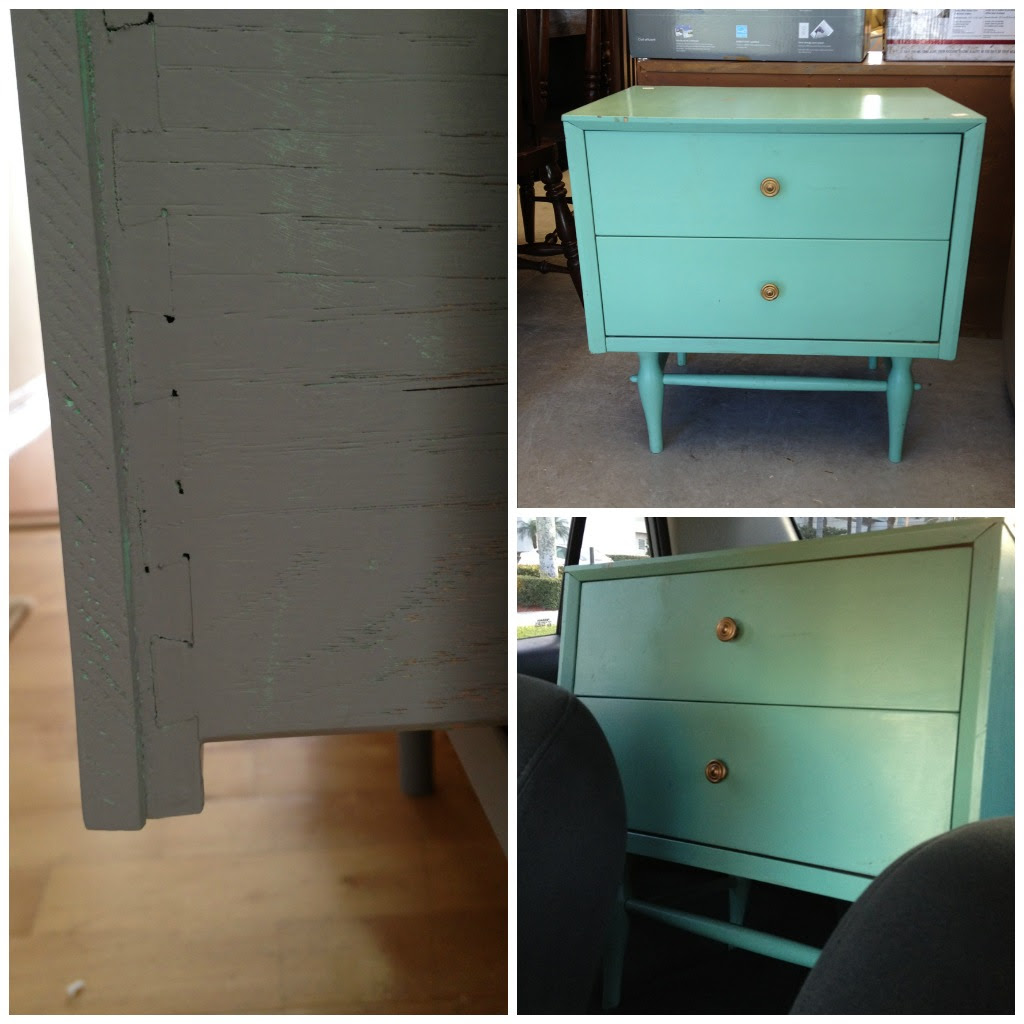 Thrift store table makeover {paint wood furniture} - C.R.A.F.T.