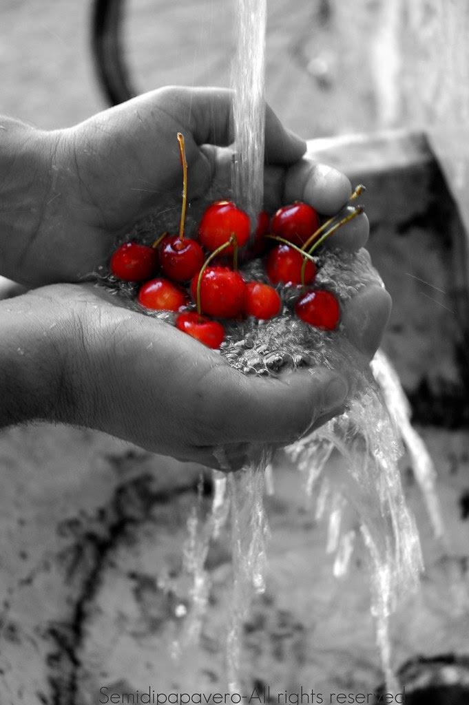 Lavare le ciliegie