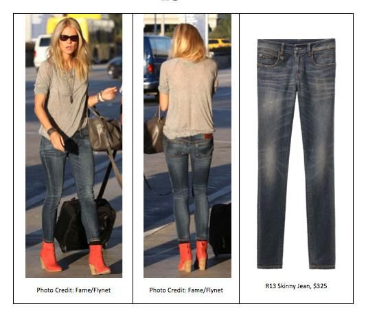 Gwyneth Paltrow wearing R13 Skinny Jeans