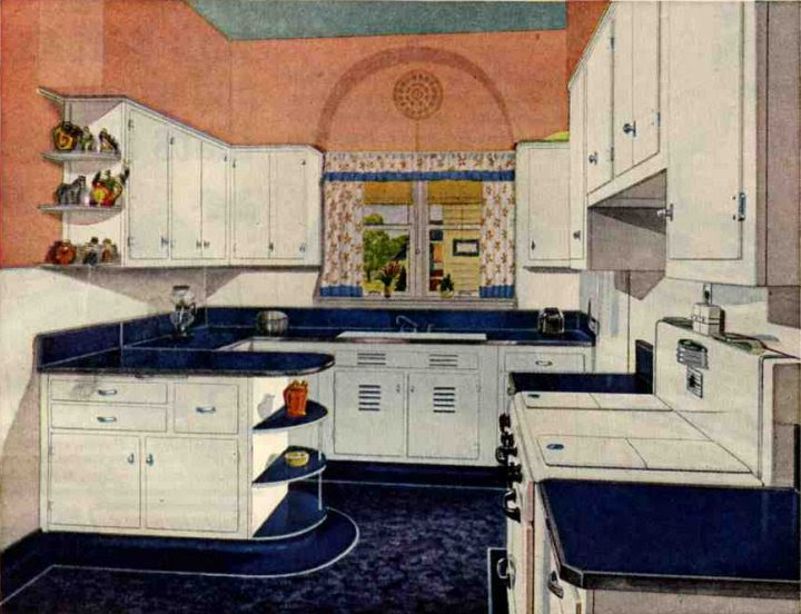 1940s Style American Kitchen Retro Design Sets And Ideas
