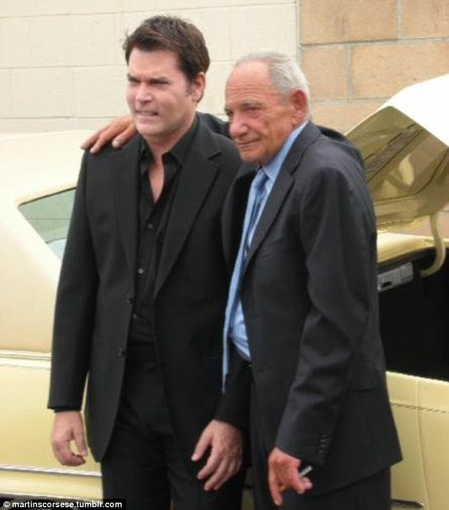 On and off screen: Actor Ray Liotta, left, met Henry Hill, the man he portrayed in Goodfellas in 2006 and is credited for persuading him to go into rehab to combat his drink and drugs problems