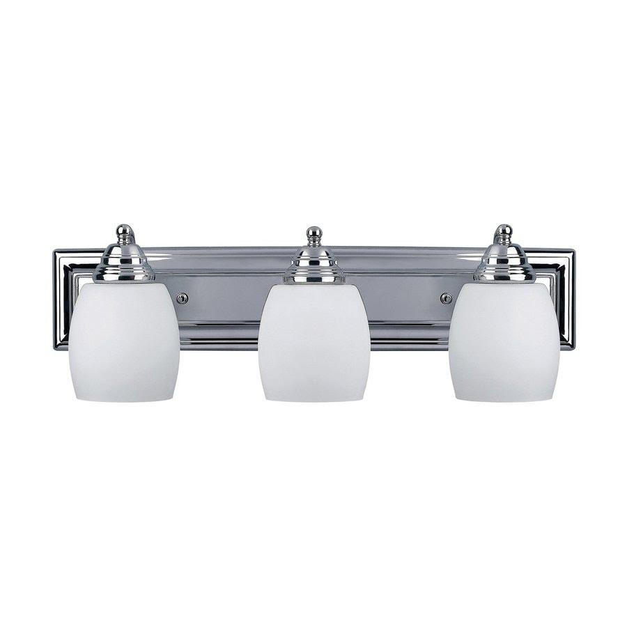 Shop Canarm 3-Light Griffin Chrome Bathroom Vanity Light ...